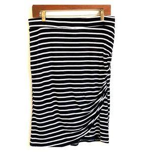 Cato Striped Pencil Skirt